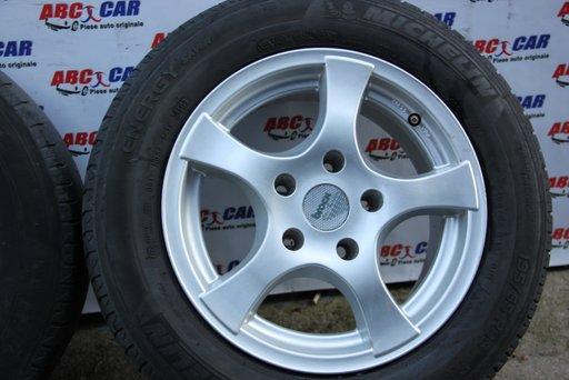 Set jante aliaj Brock cu anvelope Michelin ET 35 5X120 7JX16H2 BMW Seria 3 E46 model 2003