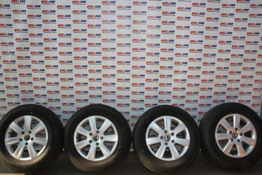 Set jante aliaj cu anvelope de vara HANKOOK DOT 2014 235 / 65 / R17 VW Touareg 7P cod: 7P6601025 model 2016