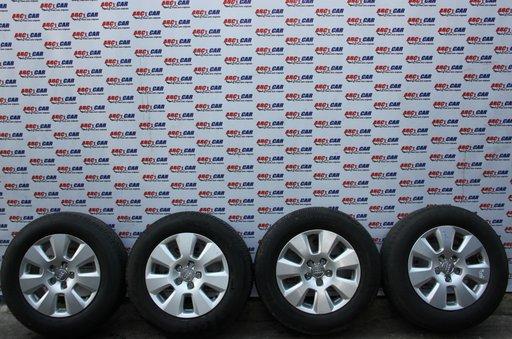 Set jante aliaj cu anvelope Pirelli 225 / 60 / R16 7,5 JX 16 5x112 cod: 4G0601025 Audi A6 4G C7 model 2014