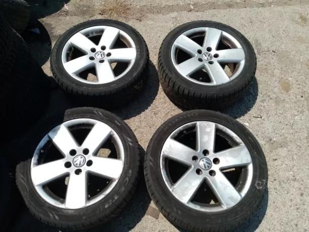 Set Jante aliaj VW Volkswagen ET 47 7,5J cu anvelope 235/45/R17