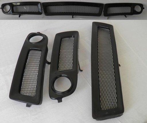 Set ornamente grila proiectoare si ornament grila radiator Audi A6 C5
