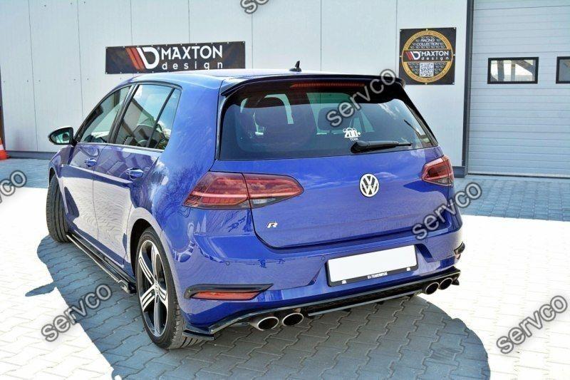 Set ornamente stopuri bara spate Volkswagen Golf 7 Mk VII R Facelift 2017-2019 v2