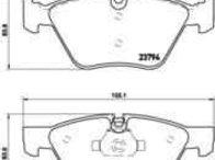Set placute de frana BMW 3 cupe (E92) BREMBO P 06 036