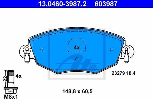 SET PLACUTE FRANA FATA - ATE - 13.0460-3987.2