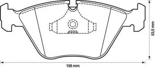 Set placute frana,frana disc BMW 3 limuzina (E36), BMW 3 cupe (E36), BMW 3 Cabriolet (E36) - STOP 571355S