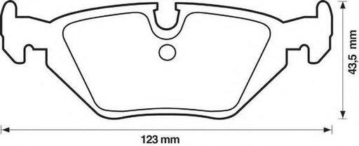 Set placute frana,frana disc BMW Z1, BMW 3 Compact (E36), BMW 3 limuzina (E36) - STOP 571527S