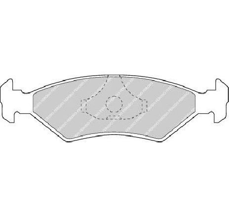 Set placute frana, frana disc FORD FIESTA III ( GFJ ) 01/1989 - 01/1997 - producator FERODO FDB206 - 300411 - Piesa Noua