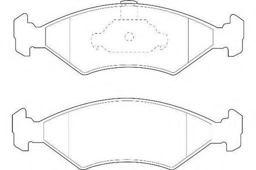 Set placute frana,frana disc FORD FIESTA Mk IV (JA_, JB_), MAZDA SOHO III (JASM, JBSM), FORD COURIER caroserie (J5_, J3_) - WAGNER WBP23103A