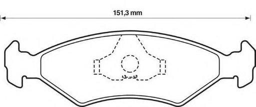 Set placute frana,frana disc FORD FIESTA Mk IV (JA_, JB_), MAZDA SOHO III (JASM, JBSM), FORD COURIER caroserie (J5_, J3_) - STOP 571914S