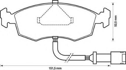 Set placute frana,frana disc FORD GRANADA I (GAE, GGE), FORD GRANADA Mk III limuzina (GGE), FORD SIERRA hatchback (GBC, GBG) - STOP 571351S