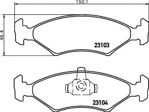Set placute frana,frana disc FORD SIERRA hatchback (GBC, GBG), FORD SIERRA (GBG, GB4), FORD SIERRA Break (BNC) - HELLA PAGID 8DB 355 008-331