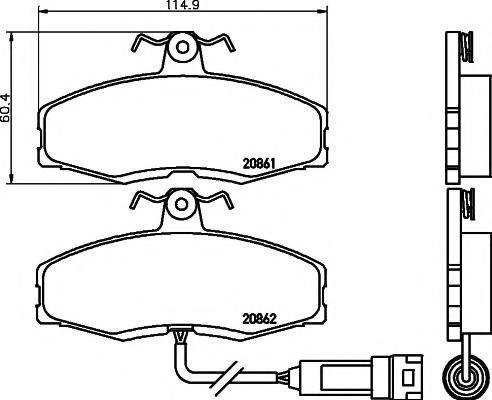 Set placute frana,frana disc FORD SIERRA hatchback (GBC), FORD SIERRA Break (BNC), TVR S - HELLA PAGID 8DB 355 005-951