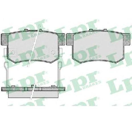 Set placute frana, frana disc HONDA CIVIC VIII limuzina ( FD, FA ) 09/2005 - 2018 - producator LPR 05P508 - 305517 - Piesa Noua