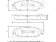 Set placute frana,frana disc LEXUS LS limuzina (UCF10), LEXUS LS limuzina (UCF20), TOYOTA CELSIOR (UCF1_) - NIPPARTS J3612014