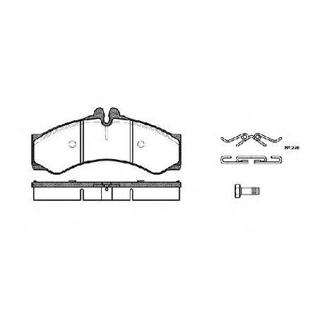 Set placute frana, frana disc punte fata MERCEDES SPRINTER 4-T CAROSERIE ( 904 ) 02/1996 - 05/2006 - piesa NOUA - producator ROADHOUSE 2614.00 - 304663