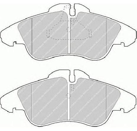 Set placute frana, frana disc punte fata MERCEDES SPRINTER 4-T BUS ( 904 ) 02/1996 - 05/2006 - piesa NOUA - producator FERODO FVR1038 - 304662