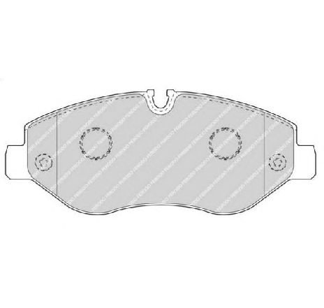 Set placute frana, frana disc punte fata MERCEDES VITO CAROSERIE ( W447 ) 10/2014 - 2019 - producator FERODO FVR4469 - 313076 - Piesa Noua