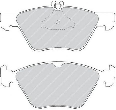 Set placute frana, frana disc punte fata MERCEDES SLK ( R170 ) 04/1996 - 04/2004 - piesa NOUA - producator FERODO FDB1050 - 301583