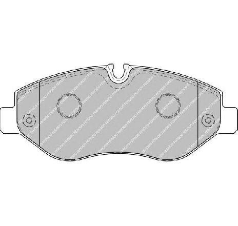Set placute frana, frana disc punte fata MERCEDES VITO CAROSERIE ( W447 ) 10/2014 - 2019 - producator FERODO FVR1778 - 313076 - Piesa Noua