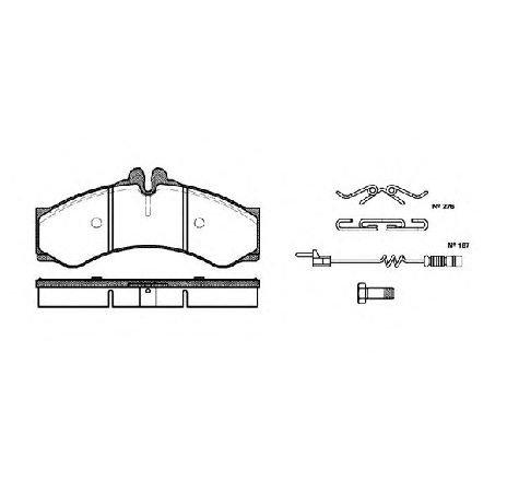 Set placute frana, frana disc punte fata MERCEDES SPRINTER 4-T BUS ( 904 ) 02/1996 - 05/2006 - piesa NOUA - producator ROADHOUSE 2614.02 - 304662