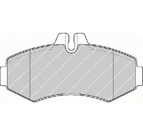 Set placute frana, frana disc punte fata MERCEDES SPRINTER 4-T BUS ( 904 ) 02/1996 - 05/2006 - piesa NOUA - producator FERODO FVR1304 - 304662