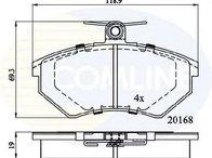 Set placute frana, frana disc punte fata SEAT IBIZA III ( 6K1 ) 08/1999 - 02/2002 - producator COMLINE CBP0511 - 304353 - Piesa Noua