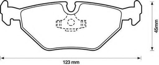 Set placute frana,frana disc SAAB 9-5 limuzina (YS3E), BMW 3 limuzina (E46), SAAB 9-5 combi (YS3E) - STOP 571960S