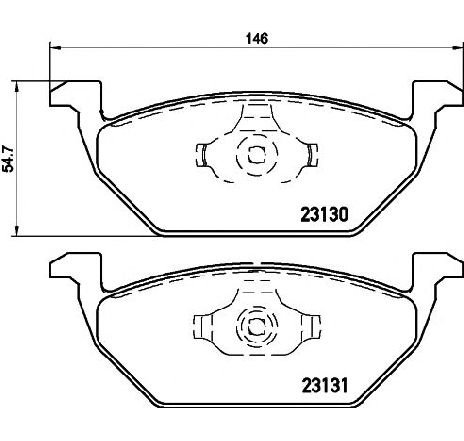 Set placute frana, frana disc VW GOLF PLUS ( 5M1, 521 ) 01/2005 - 12/2013 - producator TEXTAR 2313001 - 305379 - Piesa Noua