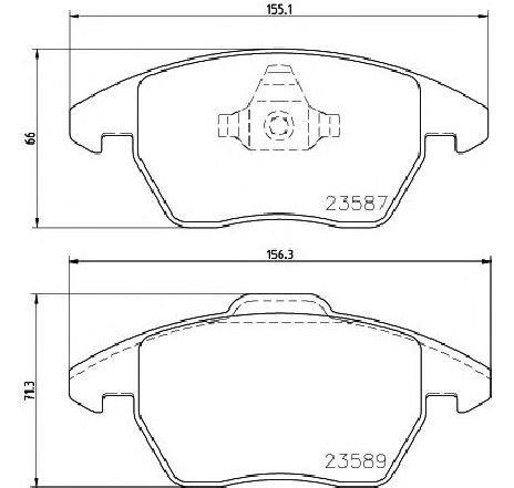 Set placute frana, frana disc VW LOAD UP ( US ) 12/2014 - 2019 - producator TEXTAR 2358704 - 336247 - Piesa Noua