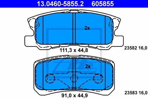 SET PLACUTE FRANA SPATE - ATE - 13.0460-5855.2