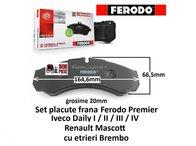 Set placute frana spate Iveco Daily 1/ 2/ 3/ 4 | Ferodo | Livrare Rapida | Piese Noi