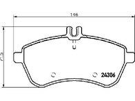 Set placute franafrana disc MERCEDES-BENZ E-CLASS T-Model ( S212 ) 08/2009 - 2018 - producator PAGID T1622 - 308160 - Piesa Noua