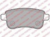 Set placute franafrana disc RENAULT MEGANE III Grandtour ( KZ0/1 ) 11/2008 - 2018 - producator DELPHI LP2153 - 308145 - Piesa Noua