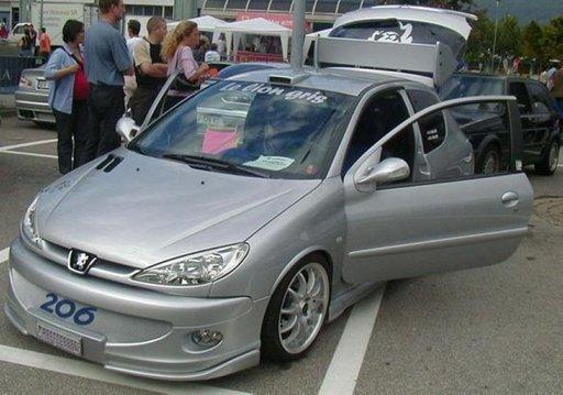 Set pleoape faruri Peugeot 206 ver2