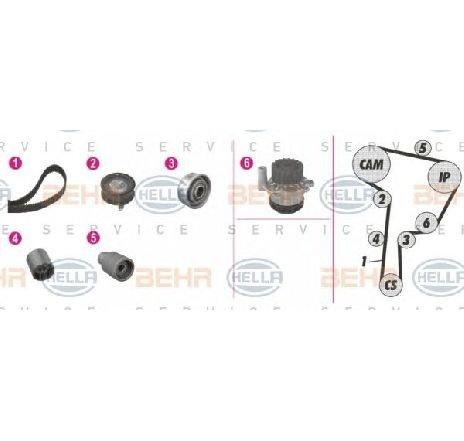Set pompa apa + curea dintata SEAT TOLEDO II ( 1M2 ) 10/1998 - 05/2006 - producator VW 038109244R - 303899 - Piesa Noua