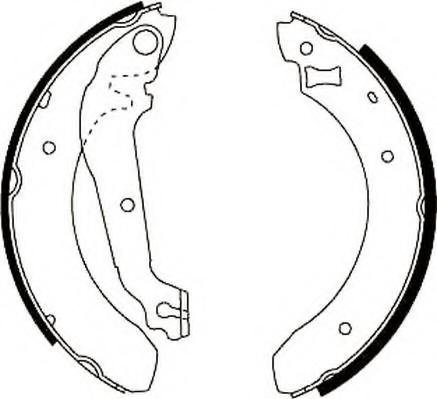 Set saboti frana FORD SIERRA hatchback (GBC, GBG), FORD SIERRA (GBG, GB4), FORD SIERRA hatchback (GBC) - JURID 361302J