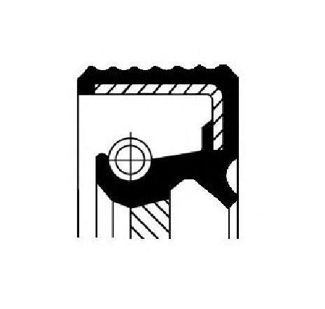 Simering, arbore cotit spre cutia de viteze RENAULT MASTER II bus ( JD ) 03/1998 - 2018 - producator CORTECO 20018713B - 303952 - Piesa Noua