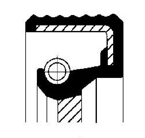 Simering, cutie automata MERCEDES-BENZ CLK ( C208 ) 06/1997 - 09/2002 - producator CORTECO 01019483B - 301981 - Piesa Noua