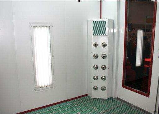 Sistem de aerare auxiliară pentru cabine de vopsit
