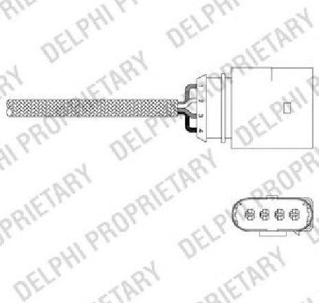 Sonda lambda AUDI ALLROAD ( 4BH, C5 ) 05/2000 - 08/2005 - piesa NOUA - producator DELPHI ES20342-12B1 - 304632