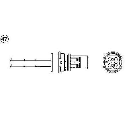 Sonda lambda MERCEDES-BENZ SPRINTER 3-t caroserie ( 903 ) 01/1995 - 05/2006 - producator NGK 90880 - 303906 - Piesa Noua