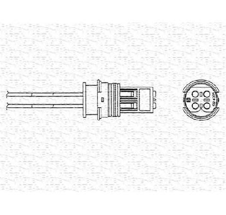 Sonda lambda MERCEDES SPRINTER 4-T PLATOU / SASIU ( 904 ) 02/1996 - 05/2006 - piesa NOUA - producator MAGNETI MARELLI 460000206010 - 304664