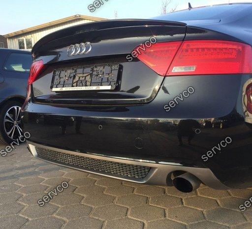 Spoiler prelungire adaos fusta evacuare bara spate Audi A5 Sportback Facelit Sline