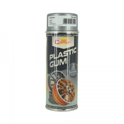 Spray vopsea cauciucata ARGINTIU RAL 9006 Champion-Premium