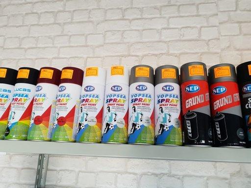 Spray vopsea ieftin, SEP alb, negru, rosu, silver, negociabil la cantitate