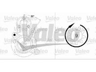 Starter FIAT UNO ( 146A/E ) 01/1983 - 06/2006 - producator VALEO 458204 - 300480 - Piesa Noua