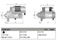 Starter JAGUAR XJ ( N3, X350, X358 ) 05/2003 - 03/2009 - producator DENSO DSN1300 - 304977 - Piesa Noua