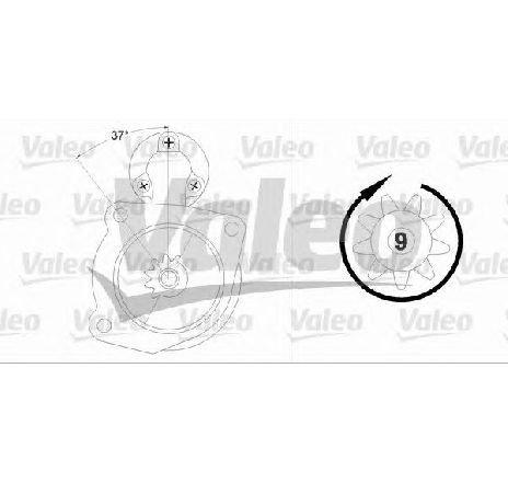 Starter SAAB 9-5 combi ( YS3E ) 10/1998 - 12/2009 - producator VALEO 458212 - 303591 - Piesa Noua