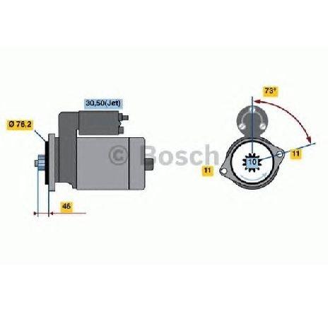 Starter VW GOLF VI VARIANT ( AJ5 ) 07/2009 - 07/2013 - producator BOSCH 0 986 022 290 - 308442 - Piesa Noua