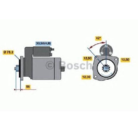 Starter VW PASSAT ALLTRACK ( 365 ) 01/2012 - 12/2014 - producator BOSCH 0 986 020 240 - 311084 - Piesa Noua